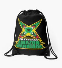 Guyana Amazon Warriors Cricket CPL T-shirt Drawstring Bag
