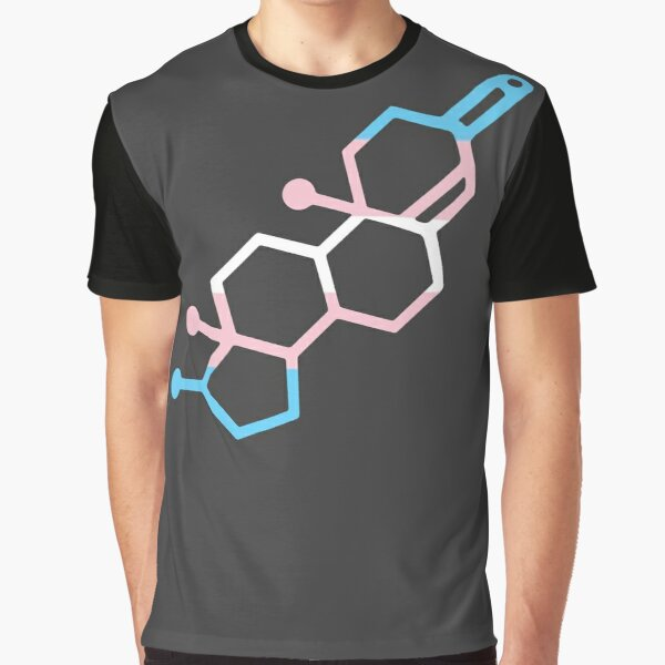 Testosterone Chemical Bond Graphic T-Shirt