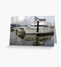 Twin-Hulled Cruiser Greeting Card