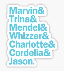 All Falsettos Characters | Blue & White Sticker