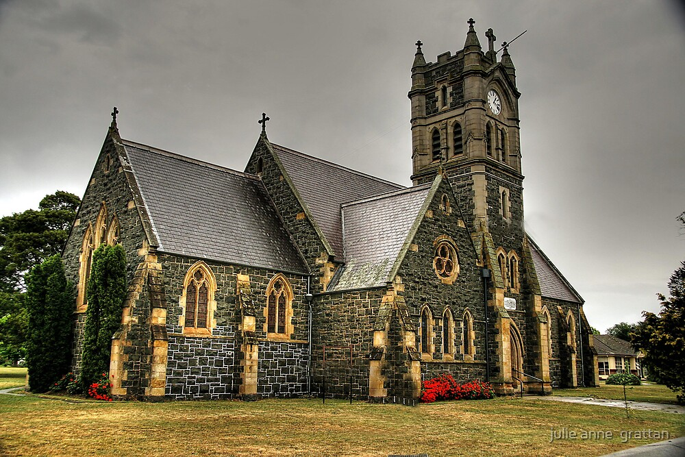 tasmanian church in hdr by julie anne  grattan