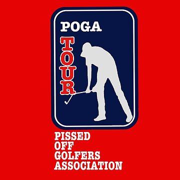 POGA-Pissed Off Golfers Association by DRAWGENIUS