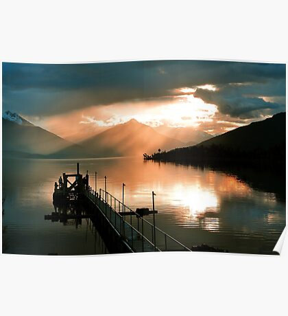 Lake Te Anau. South Island, New Zealand. (3) Poster
