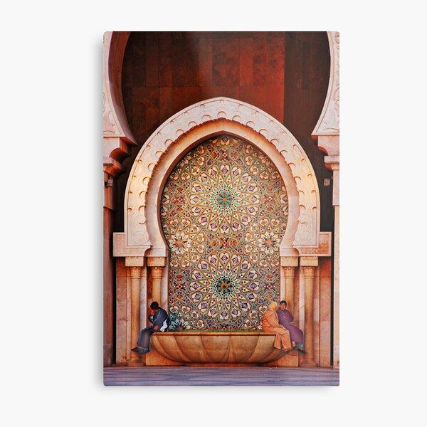 Fountain, Hassam II Mosque Casablanca Metal Print