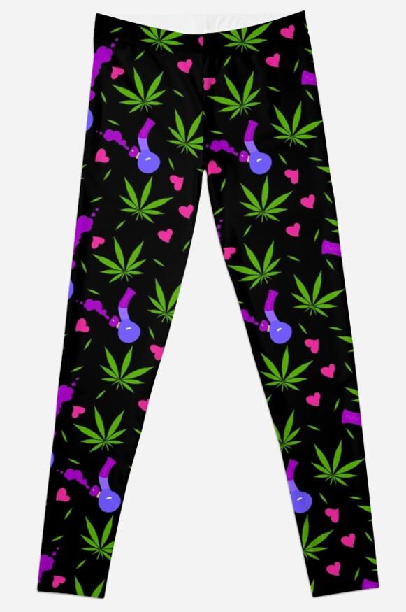 high love leggings  by kushcoast