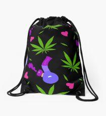 high love leggings  Drawstring Bag
