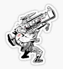 Badass Bazooka Sticker