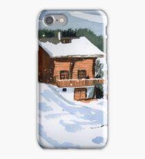 Snowed In Watercolor iPhone Case/Skin