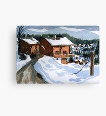 Snowed In Watercolor Canvas Print