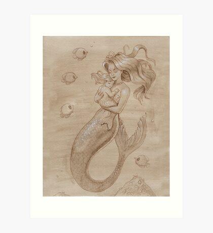 Mother Mermaid Art Print