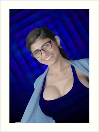 Mia Khalifa Kunstdrucke Von Mosaicart Redbubble