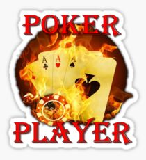 Poker player Sticker