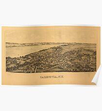 Panoramic Maps Cazenovia NY Poster