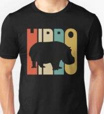 Vintage Style Hippo Silhouette Shirt Unisex T-Shirt
