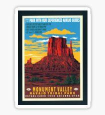 Vintage Travel Poster – Monument Valley  Sticker