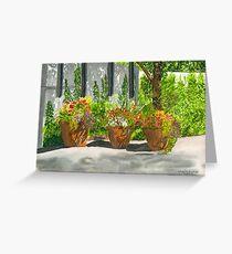 Sunny Day Shadows Watercolor Greeting Card