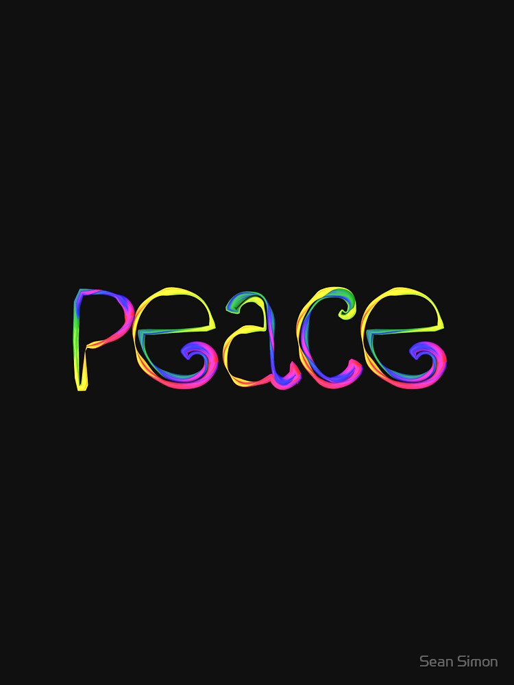peace rainbow lettering classic t shirt by lozmosis redbubble