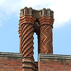 The Chimneys of Hampton Court Palace. England by hanspeder