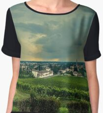 Storm over the vineyard Women's Chiffon Top