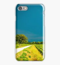 Storm over the vineyard iPhone Case/Skin