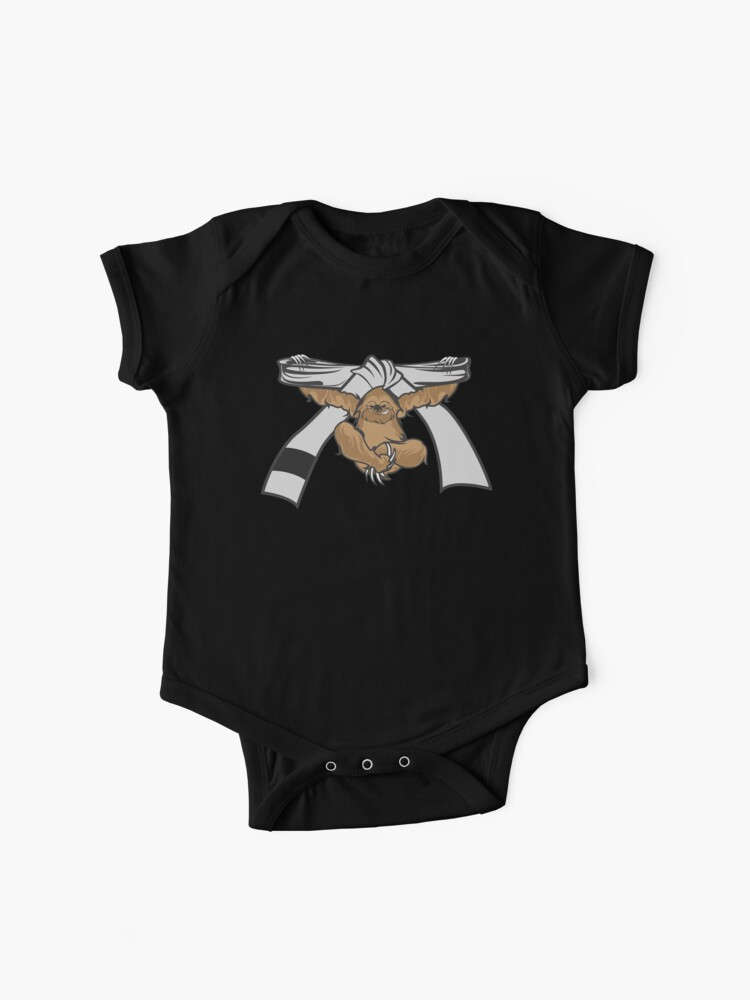 Sloth Jiu Jitsu Shirt BJJ White Belt   Baby One-Piece
