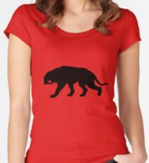 Saber-toothed tiger Women's Fitted Scoop T-Shirt