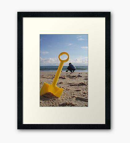 Digging Framed Print