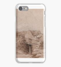 Attributed to David Cox the Elder () Cottage in Wales with peasant lady iPhone Case/Skin