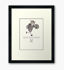 Run Boy Run (Adventure Time parody) Framed Print