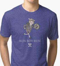 Run Boy Run (Adventure Time parody) Tri-blend T-Shirt