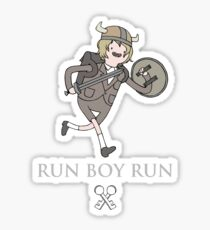 Run Boy Run (Adventure Time parody) Sticker