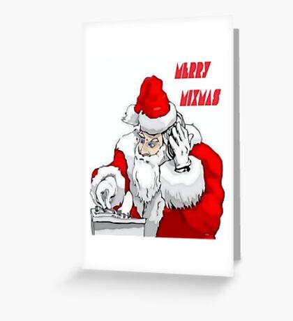 Merry Mixmas Santa Claus DJ  Christmas Party Greeting Card