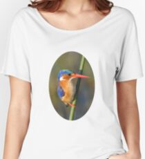 Malachite Kingfisher on reed Women's Relaxed Fit T-Shirt