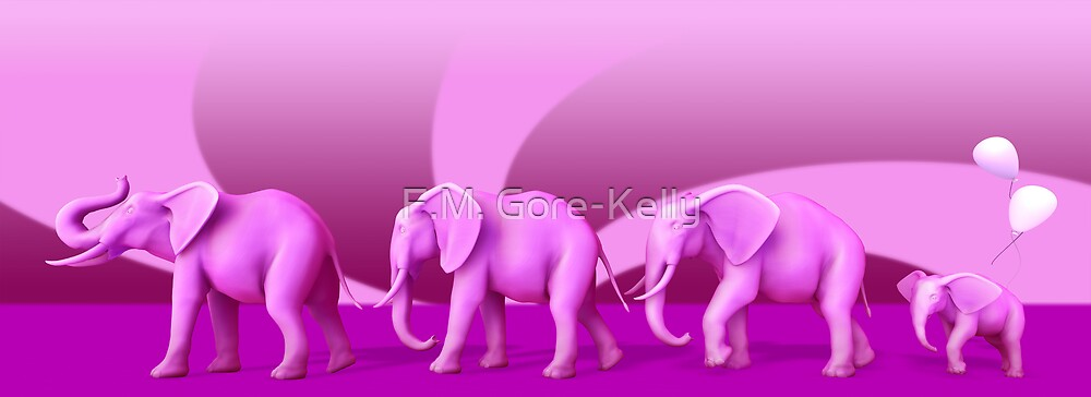 Pink Elephant parade by F.M. Gore-Kelly