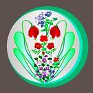 FLOWER GARDEN ON SILVER by Dayonda