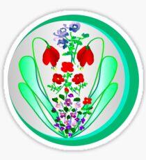 FLOWER GARDEN ON SILVER Sticker