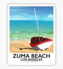 Zuma Beach LA Rail beach poster  Sticker