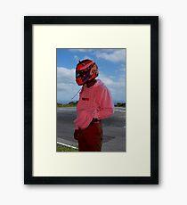 Frank Ocean - Helmet Framed Print