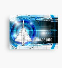 Mirage 2000 Blueprint Canvas Print