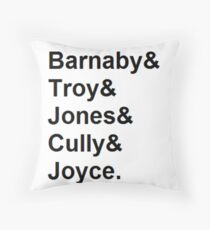 Midsomer Murders - Helvetica List Throw Pillow