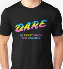 DARE 90s Drogen Tshirt Shirt Slim Fit T-Shirt