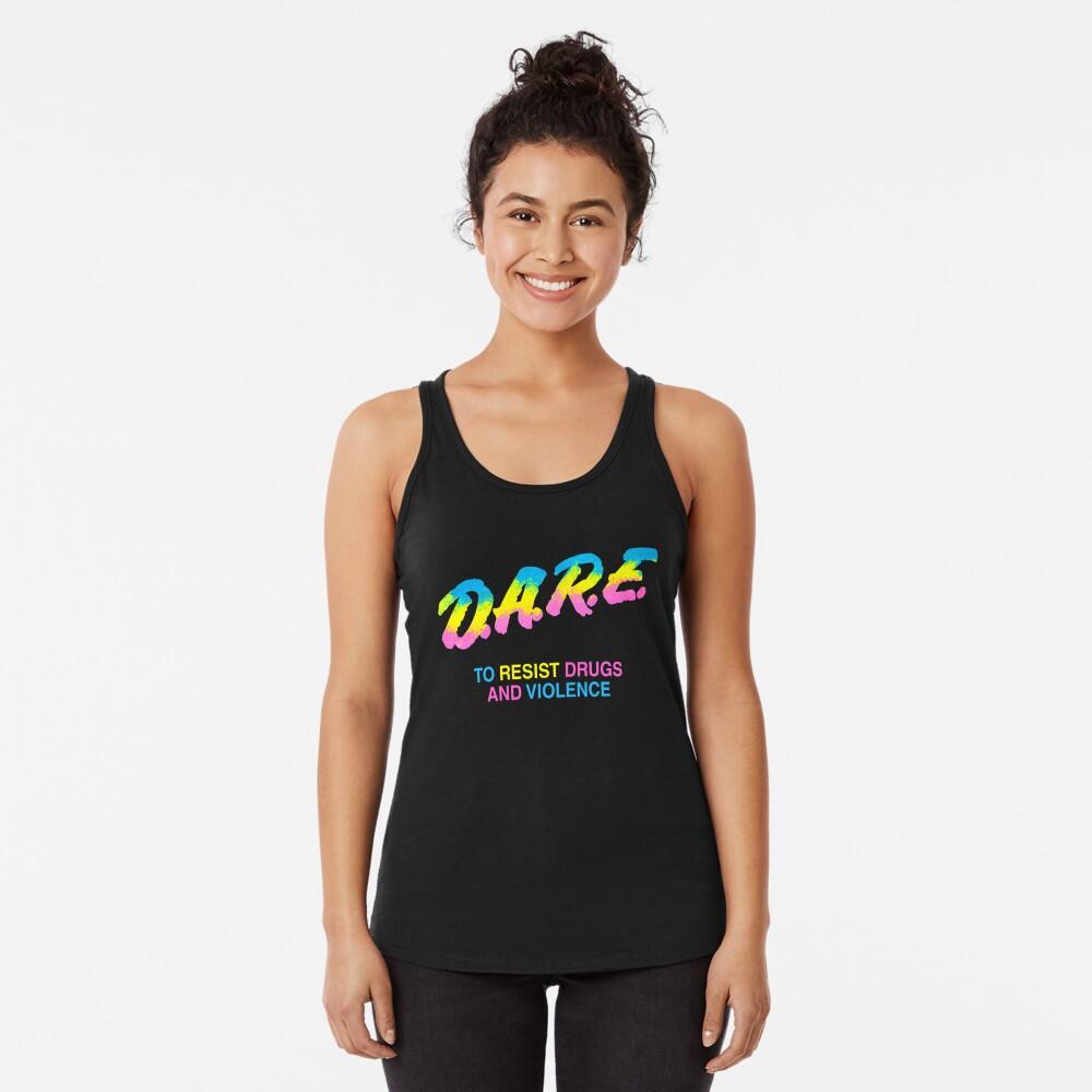 DARE 90s drugs tshirt shirt Racerback Tank Top