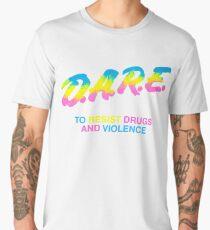 DARE 90s drugs tshirt shirt Men's Premium T-Shirt