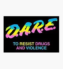 DARE 90s drugs tshirt shirt Photographic Print