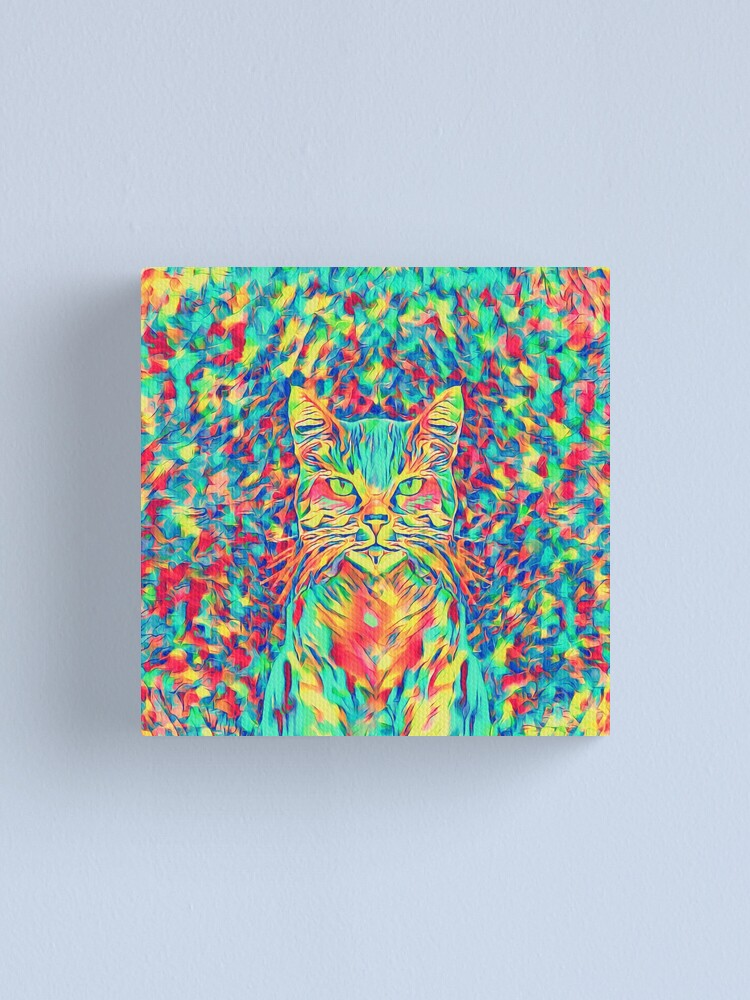 Alternate view of Color Cat Canvas Print