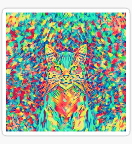 Color Cat Sticker