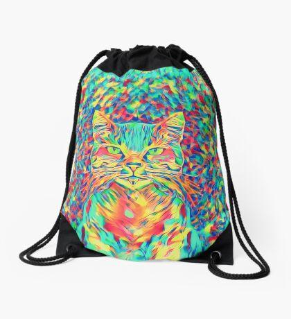 Color Cat Drawstring Bag