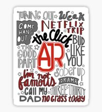 AJR The Click with Background Sticker