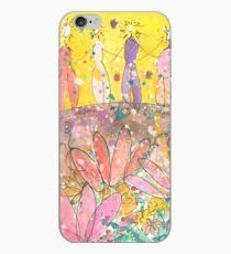 Beautiful Hearts Watercolor Painting iPhone Case