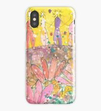 Beautiful Hearts Watercolor Painting iPhone Case/Skin